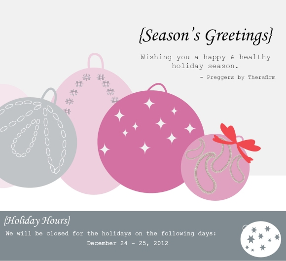 holiday card 2012 preggers