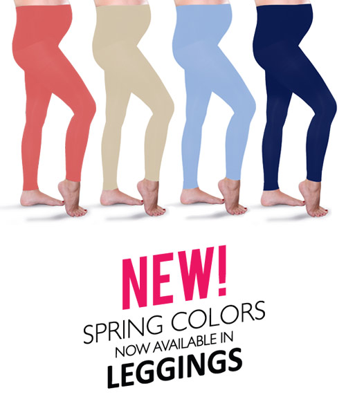 Preggers Maternity Compression Leggings in Spring Colors