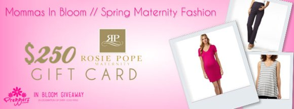 Mommas in Bloom Rosie Pope $250 Gift Card Giveaway presented by Preggers