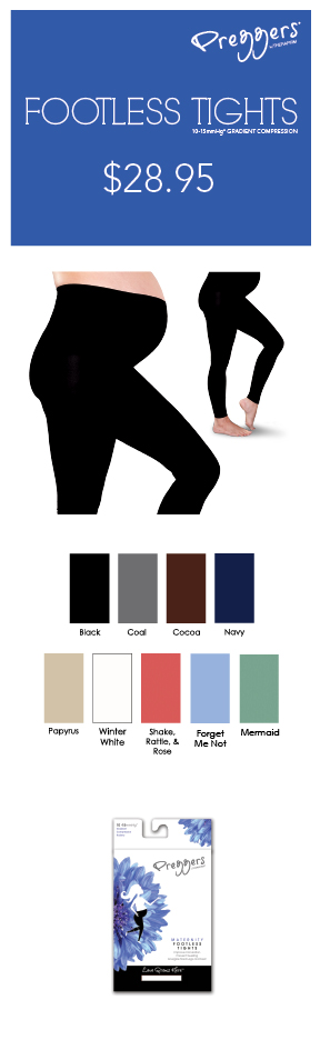 Preggers Footless Tights (10-15 mmHg)